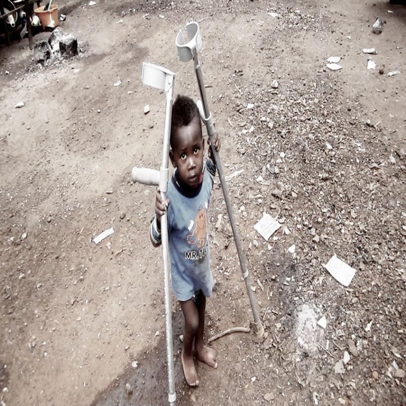 Child of a polio victim